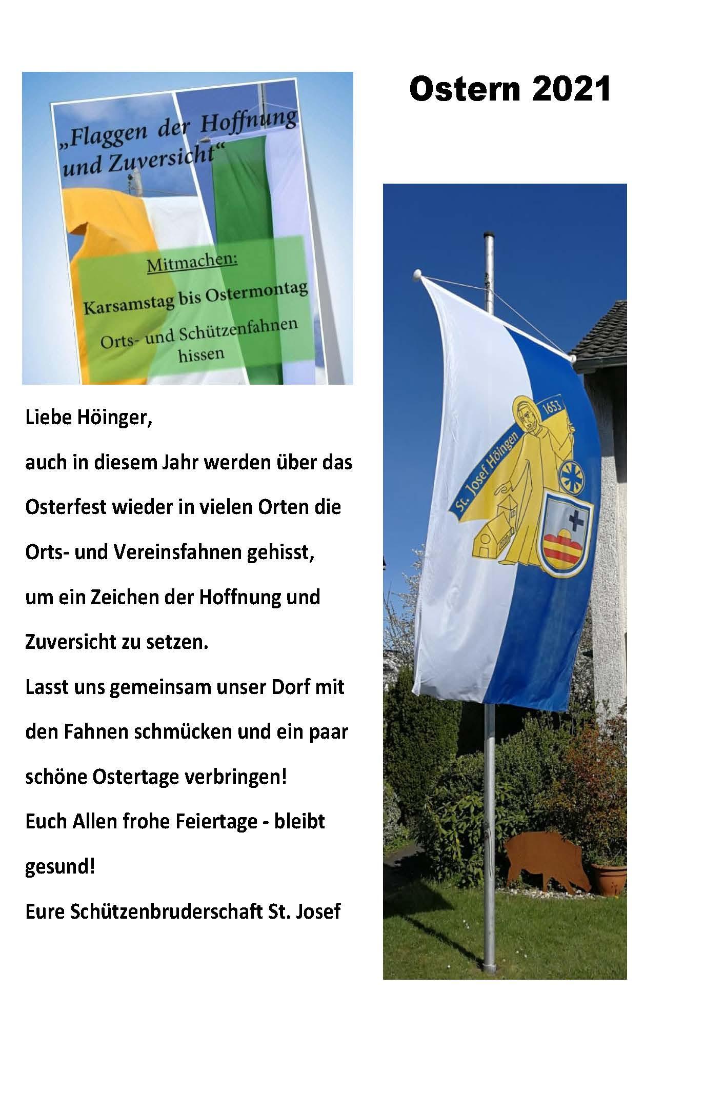 """Zu Ostern """"Flagge hissen"""""""